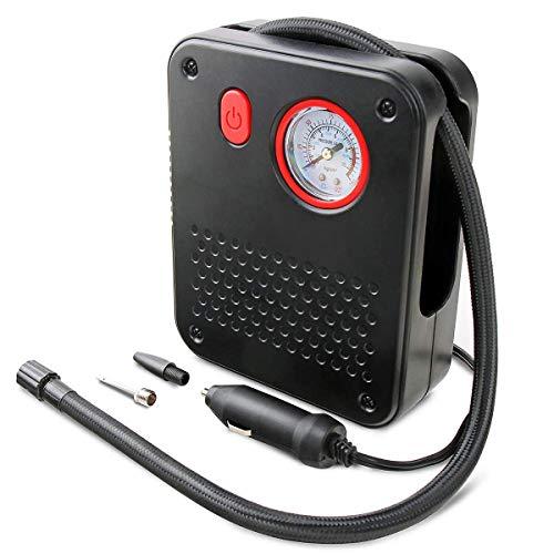 YEMEIM Sicherheits-tragbare Luftkompressor-Pumpe 12V Digital-Reifenpumpe für Auto/Motorrad/Fahrrad/Basketball/Motorboot