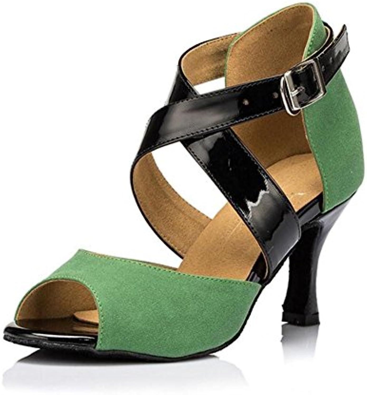 XIE Zapatos de mujer Terciopelo Salón de baile latín Taogo Baile Zapatillas Sandalias Tamaño 35 a 41, EU35