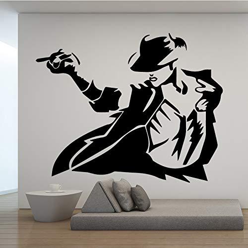 Cool Man Muster Wandaufkleber Wandaufkleber Kunst Dekor Für Wohnzimmer Schlafzimmer Dekoration Zubehör Vinyl Wandkunst Aufkleber 58 cm X 83 cm