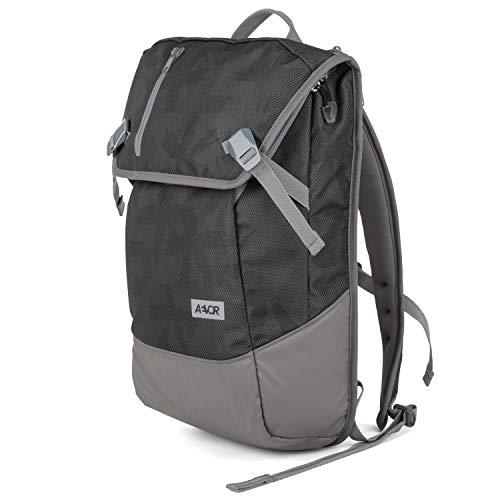 AEVOR Daypack Palm Black Rucksack für die Uni und Freizeit Inklusive Laptopfach und erweiterbar auf 28 Liter