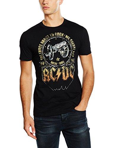 Desconocido AC/DC Salute-Camiseta de, Todo el año, Hombre, Color Negro, tamaño Large