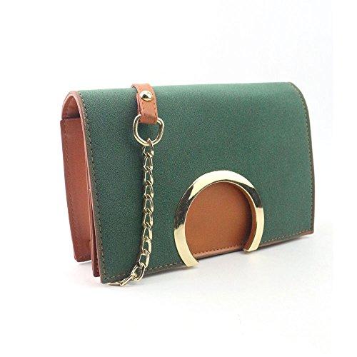 Longra Donne Borse a tracolla piccola di moda Verde