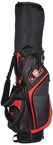 Ogio 2017 Press Stand Bag Mens Golf Carry Bag 7-Way Divider Vortex/Red
