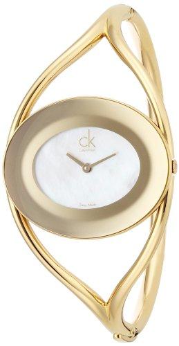 Calvin Klein Damen-Armbanduhr Analog Quarz Edelstahl K1A2391G
