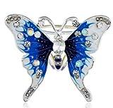 Syndecho Elegant Butterfly Silk Scarf Ring Scarf Buckle Clip Women Jewellry