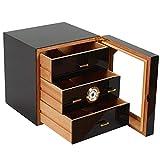 LJA Cigar Humidor 3 Layer Cigar Cabinet Hygrometer...