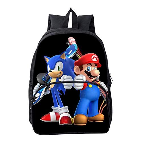 HGYYIO Ligero Mochila niños 3D Anime Sonic Impreso