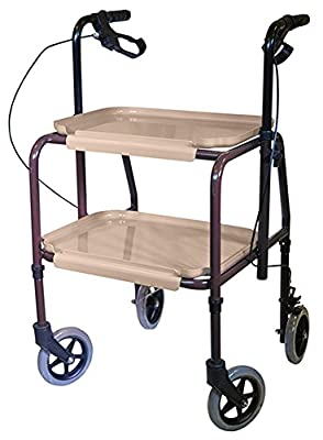aidapt Height Adjustable Kitchen Strolley Trolley with Brakes (Eligible for VAT relief in the UK)