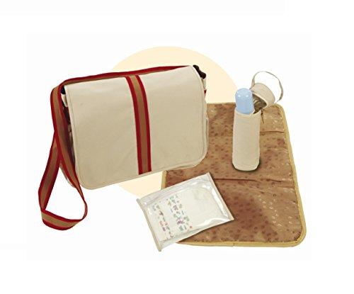 roba Wickeltasche, Tasche inkl. Wickelplatte, Windelbeutel & Flaschenschutz, Canvas beige