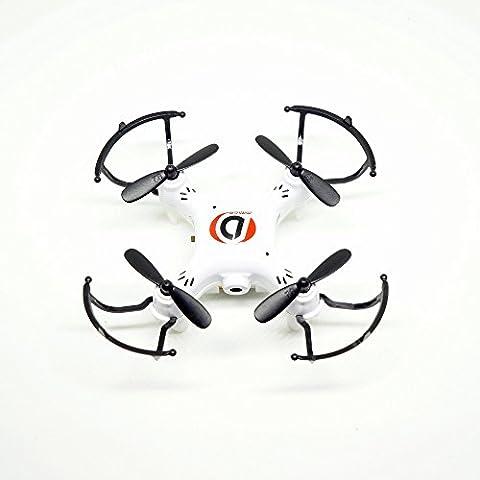 Joyrim Mini 0.3MP cámara 2.4G 4 canales 6-Axis Gyro RC Cuadricóptero con luz LED de navegación sin cabeza CF modo 360 ° tirón 3D de vuelo RTF Spy Drone (Drone Cámara, Naranja)