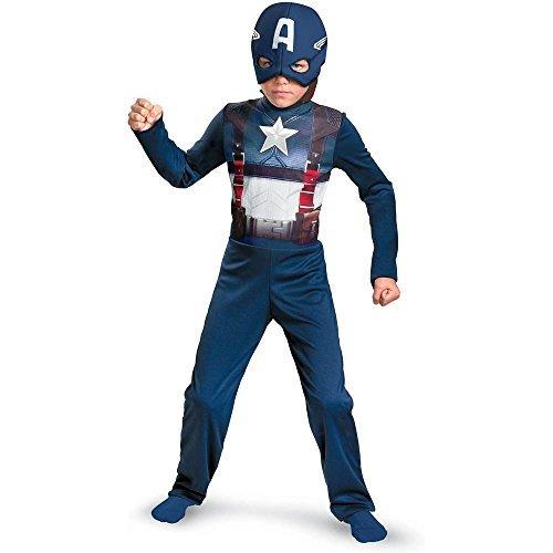 Captain America Movie Retro Costume (M (7-8))