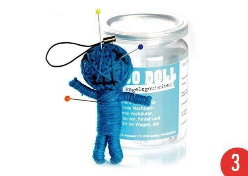 3er-Pack: Voodoo Doll in Dose | lustige Mini-Voodoo-Puppe to go | ALLGEMEINE ANGELEGENHEITEN | unverzichtbar bei größeren oder kl. Problemchen mit Nachbarn, Verkäufern, inkompetenten Autofahrern