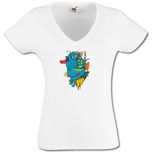 T-Shirt Kleine Monster 4 - Damen Weiß