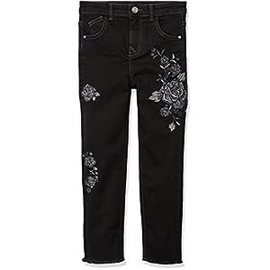 RED WAGON Jeans Ricamati Bambina, Nero (Black), 4 anni (Taglia Produttore: 4)