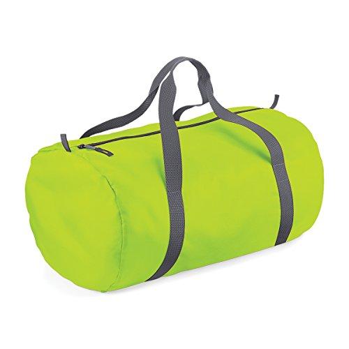 BagBase wasserdichte Tasche fur Reisen Packaway Barrel Tasche 50x30x26cm 32L Feiertags-Taschen LIME GREEN