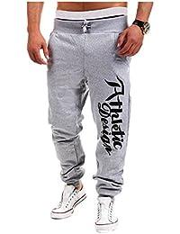 Pantalones Deportivos Hombres Harem Holgado Hip Hop Pantalones de Chandal