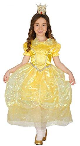 Guirca Kostüm Prinzessin, Größe 7–9Jahre, Gelb (85863)