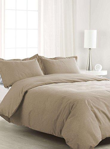 SCALABEDDING 500TC 500% ägyptische Baumwolle 1Stück Bettbezug Voll/Königin Größe Taupe - Königin Bettbezug Taupe