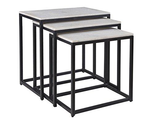 Schatzkammer Akzente Satztische Nesting Tables, Set 3, Holz, schwarz