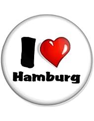 I love Hamburg Button, Badge, Anstecker, Anstecknadel, Ansteckpin