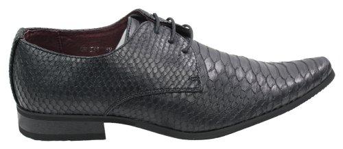 Herren Schuhe geschnürt Schwarz Krokodilleder nur EUR31,99 Schwarz
