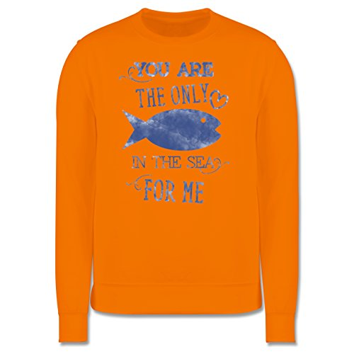 Statement Shirts - Your are the only fish in the sea for me - Herren Premium Pullover Orange