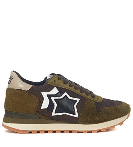 Nueva Línea Las Fechas De Publicación Ost Atlantic Stars Sneaker argo in Pelle Verde e Mesh Verde Auténtico y3cROUKMQ