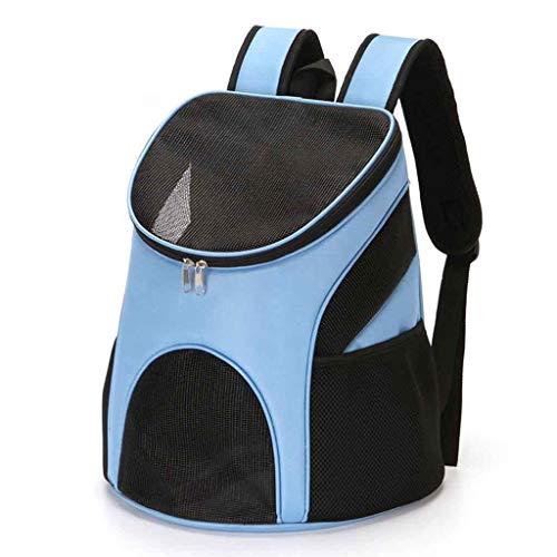 Teddy nehmen den Hund Brustgurt Tasche atmungsaktiv Faltbare tragbare zusammenklappbare Katze Taschen Reisen Wandern Outdoor Camping,Blue ()
