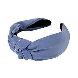 Axy, HR35, cerchietto per capelli, in tessuto, con splendido fiocco, in stile vintage e tessuto, colore: Blu, cod. HR35