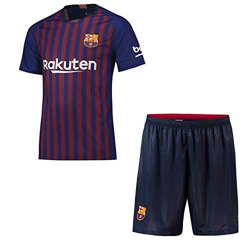 Zhouhuin Fußball-Kits Angepasstes Fußball-Trikot und Shorts Club-Team (Heim und Auswärts) 2018-2019 Neue Saison, mehrere Vereine, beliebiger Name und Nummer