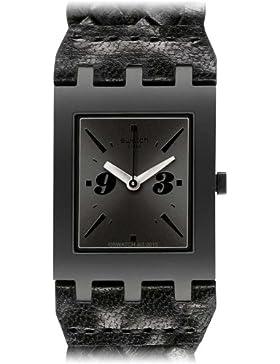 Swatch Quarzuhr Unisex Unisex Black Braid 24 mm