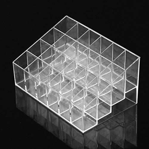 Pudincoco Transparent Multifonctionnel Maison Chambre Rouge à Lèvres Stand Cas Cosmétique Maquillage Outils Organisateur Titulaire Boîte En Plastique (transparent)