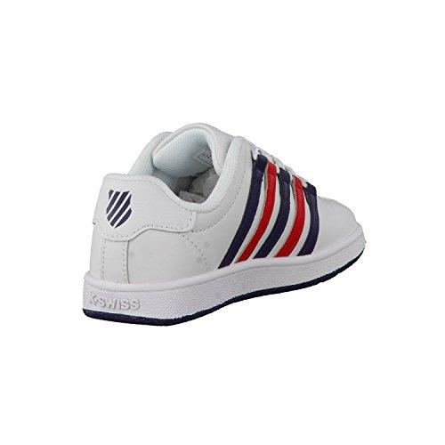 K-Swiss Kinder Sneaker Classic VN white/navi/red
