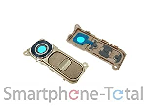 NG-Mobile LG Optimus G4 H815 Kameraglas Kameralinse Scheibe Glas inkl. Rahmen und Ein Aus Taste gold