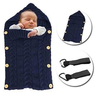 MikeCFMm – Saco de dormir para bebé recién nacido, manta de punto de ganchillo para bebé, ligera, cálida, unisex, sobre