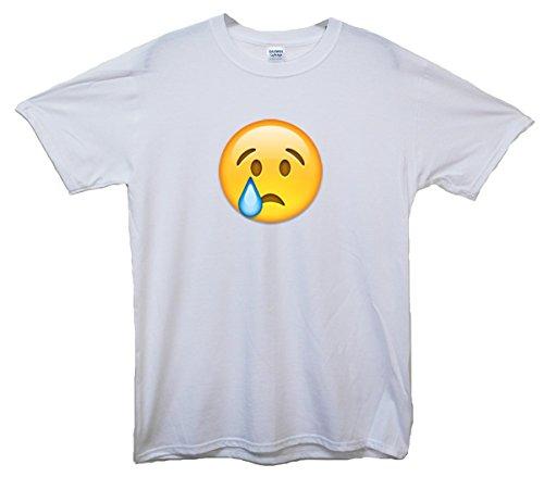 Crying Face Emoji T-Shirt Weiß