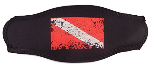 Innovative Faded Dive Flag Mask Strap Red/Black by Innovative Scuba