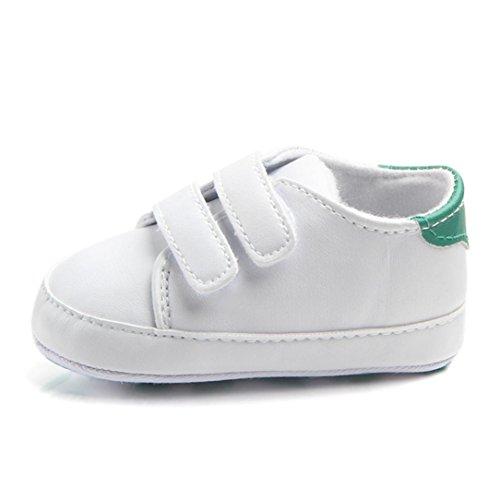 Pour 0-18 mois chaussures de bébé, Amlaiworld Enfant Garçon Fille Semelles douces de berceau Sneaker (11/0-6m, Vert)