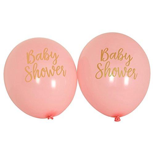 Neviti CSC Imports Juego de Obras-Globos-Baby Shower Rosa, Pack de 8