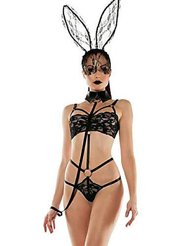 SINYUEE Playboy Bunny Kostüm Women's Lace Super Sexy Suits Nightwear Club Solid Colored Green One Size Strap, Grün,One - Grüne Playboy Bunny Kostüm