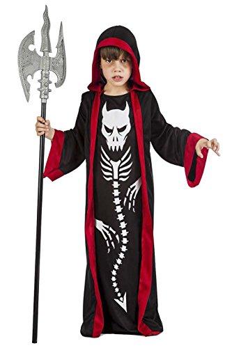 Imagen de disfraz esqueleto demonio talla 5 6 años tamaño infantil