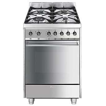 Smeg cucina c6gvxi-8 60x60 gas ventilato griglie in ghisa. forno gas ...