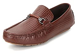 San Frissco Mens Tan Leather Loafers - 8 UK