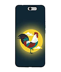 PrintVisa Designer Back Case Cover for InFocus M812 (Blue Yellow Red Illustration Chicken Farm Domestic Vector)