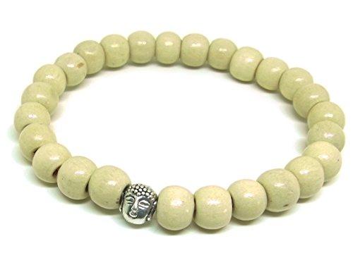artisanat-asiatique-tete-bouddha-bracelet-mala-bouddhiste-perles-en-bois-blanc-elastique