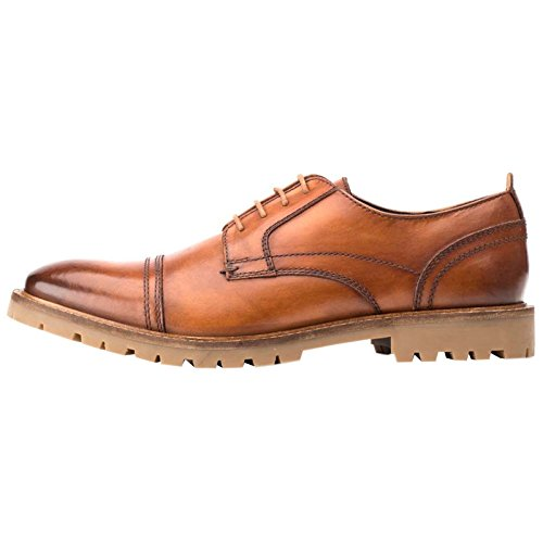 Base London Mens Pike Leather Shoes Tan