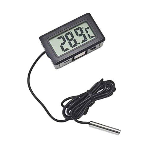 Fangfeen Kühlschrank Gefrierschrank Temperaturmessgerät -50 bis 110 ° C Thermometer Digital-LCD für Kühlschrank (Fern-panel)