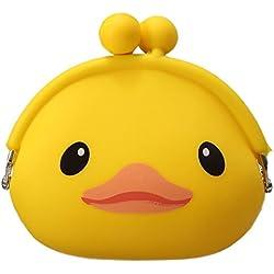 Whobabe Regalo femenino de la cartera del monedero de la jalea de la historieta lindo del kawaii de la muchacha femenina para los niños (Duck)