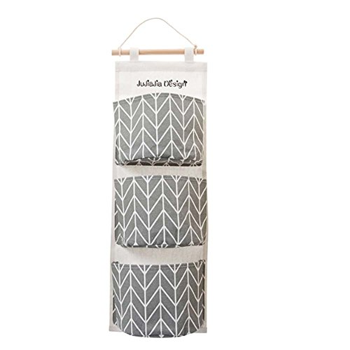 Preisvergleich Produktbild Über der Tür Aufbewahrungstaschen Wandtaschen Aufbewahrungstasche mit 3 Taschen