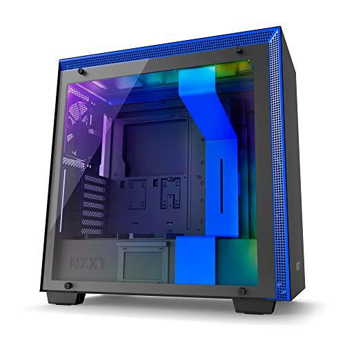 NZXT H700i Midi-Tower Negro, Azul carcasa de ordenador - Caja de ordenador (Midi-Tower, PC, SECC, Vidrio templado, ATX,EATX,Micro-ATX,Mini-ITX, Negro, Azul, Juego)